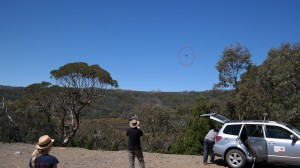 SkyJib flying at Mt. Field national park