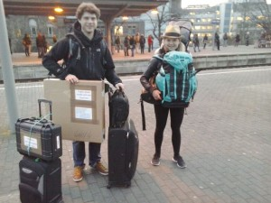 backed with equipment right before leaving cologne