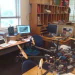 My desk in Arko's lab